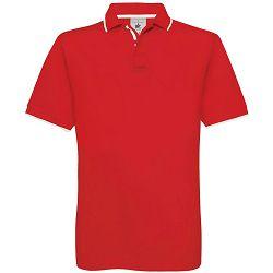 Polo majice B&C, Safran Sport, red-white