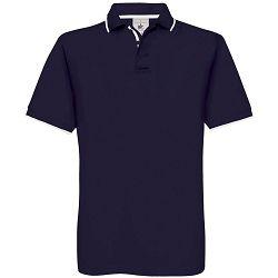 Polo majice B&C, Safran Sport, navy-white