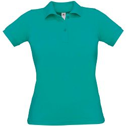 Polo majice B&C, Safran Pure , women, real turquoise