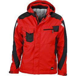Radna jakna James & Nicholson, JN 824, red-black