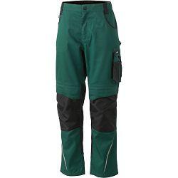 Radne hlače James & Nicholson, JN 832, dark green-black