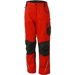 Radne hlače James & Nicholson, JN 832, red-black