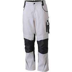 Radne hlače James & Nicholson, JN 832, white-carbon